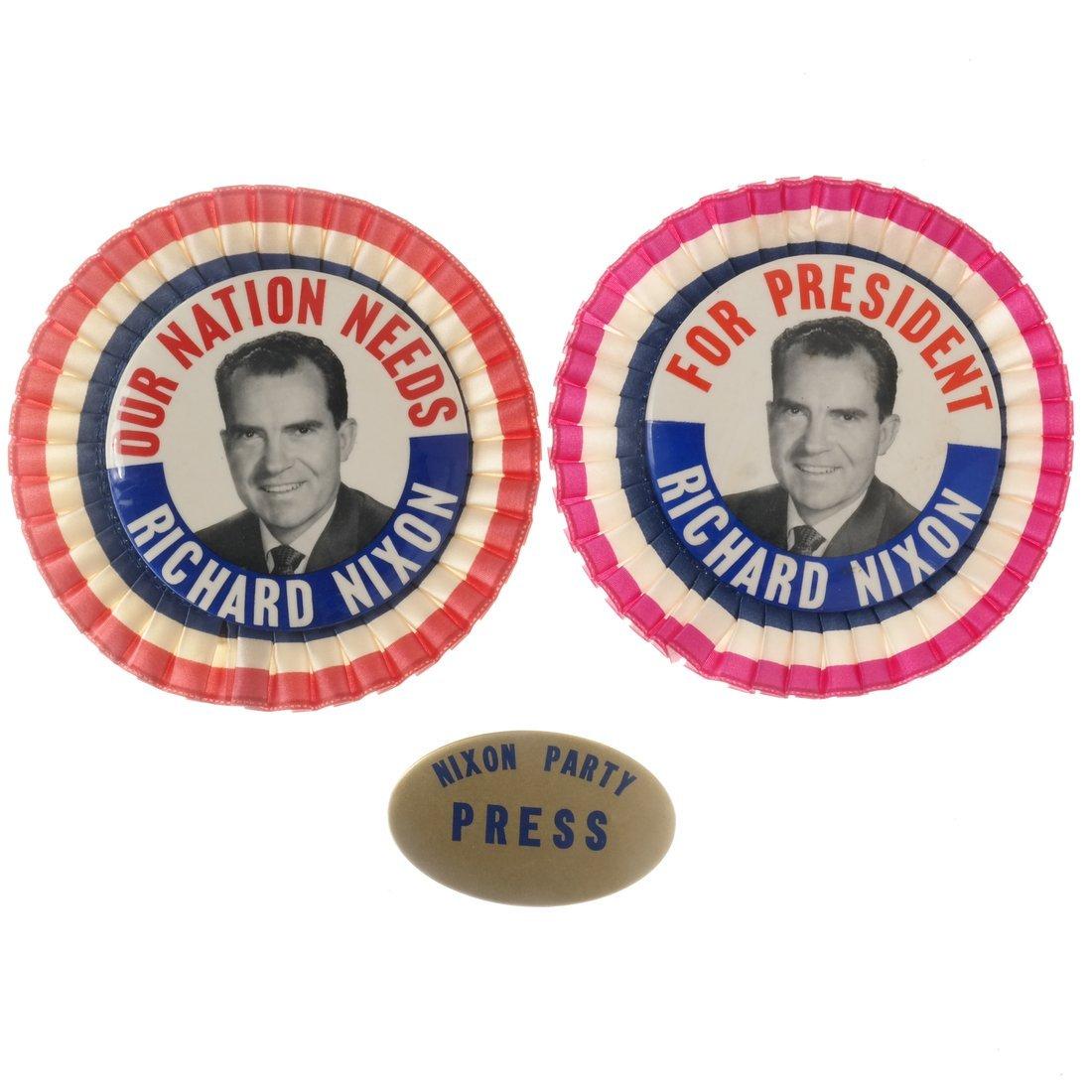 Richard Nixon - Three Pinbacks