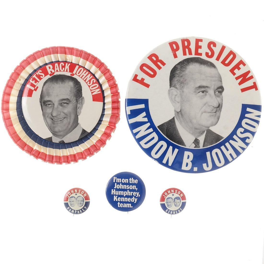 Lyndon. B. Johnson - Five 1964 Celluloids