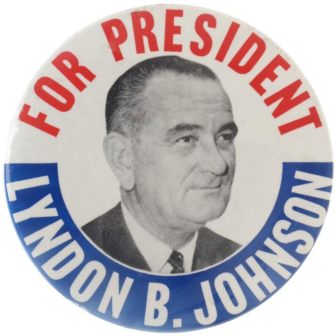 Lyndon. B. Johnson - Five 1964 Celluloids - 3
