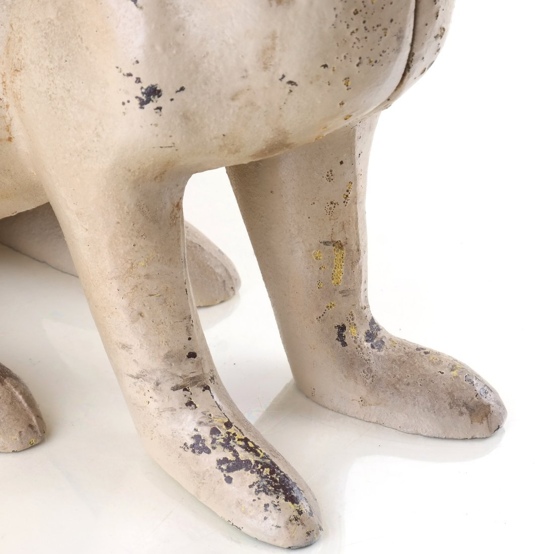 Two Painted Cast Iron Rabbits - 8