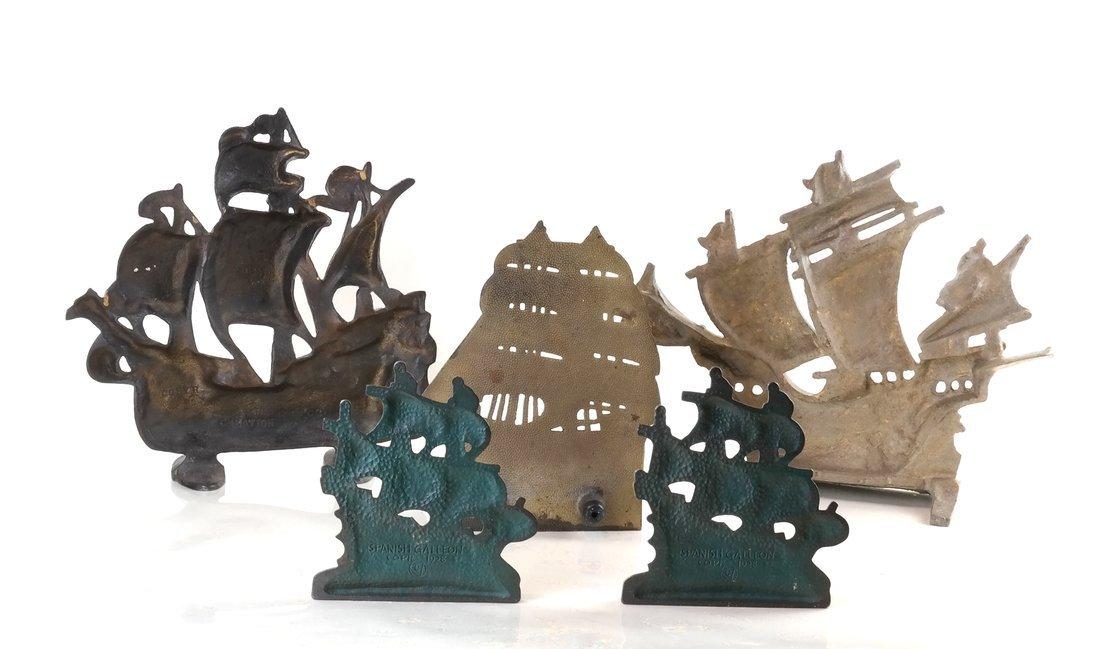 Five Cast Metal Galleon Items - 2
