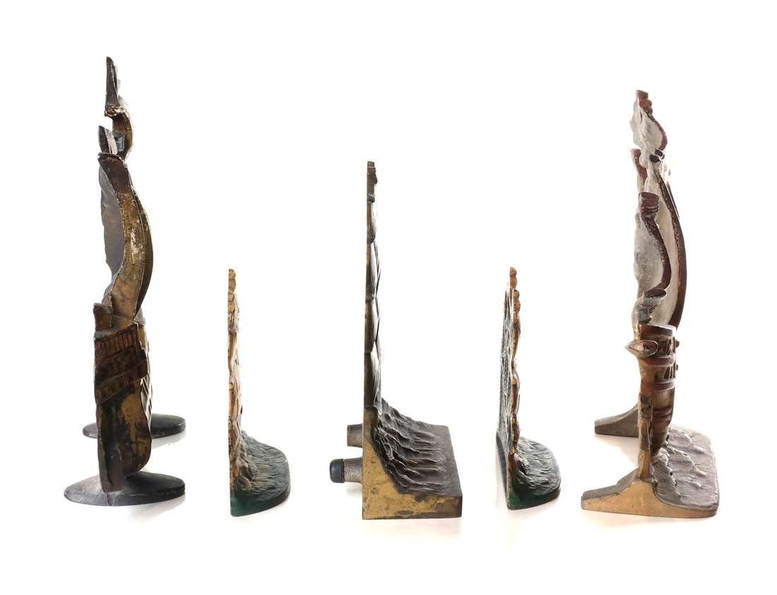 Five Cast Metal Galleon Items - 3