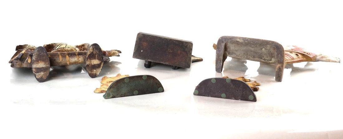 Five Cast Metal Galleon Items - 4