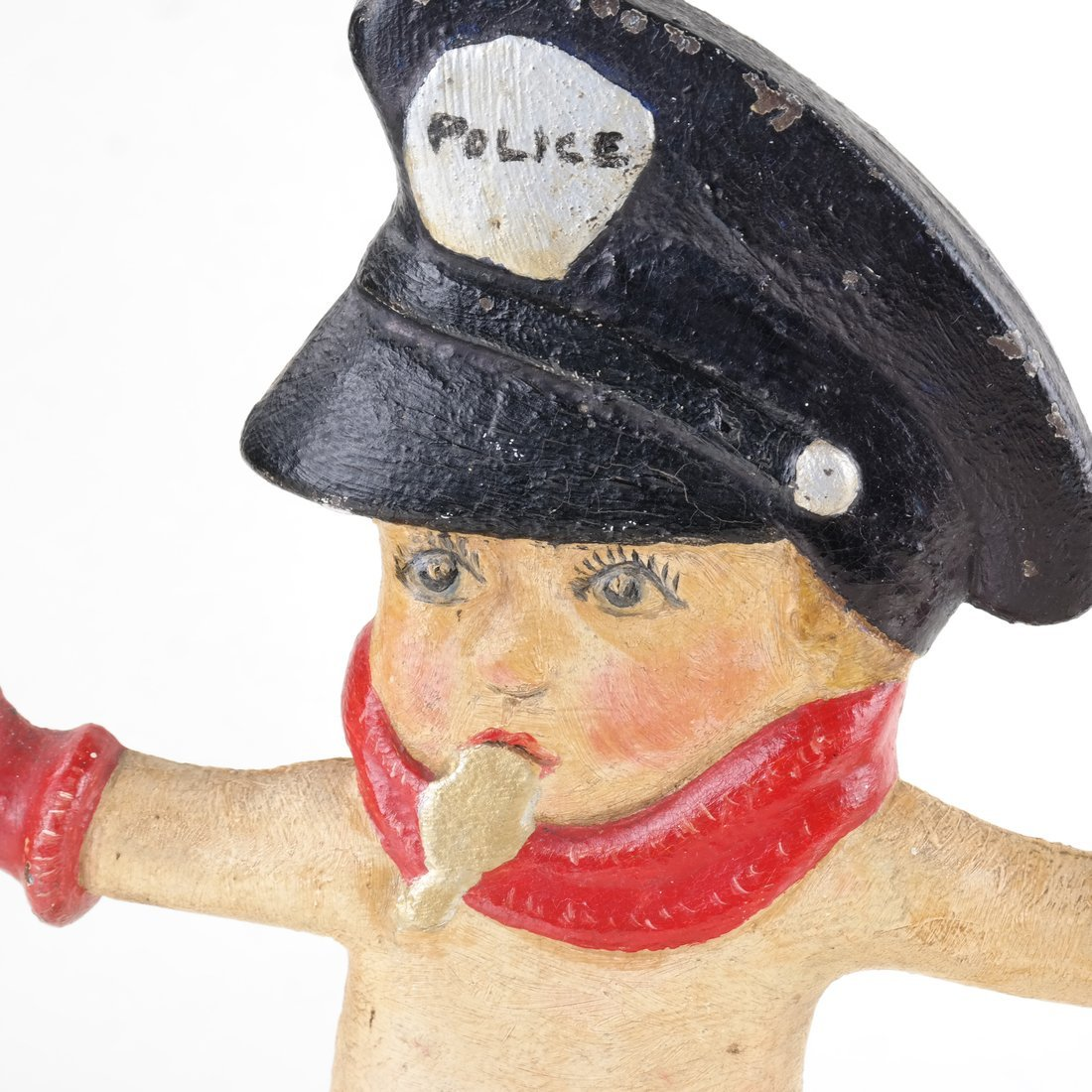 Painted Cast Iron Police Boy Doorstop - 7
