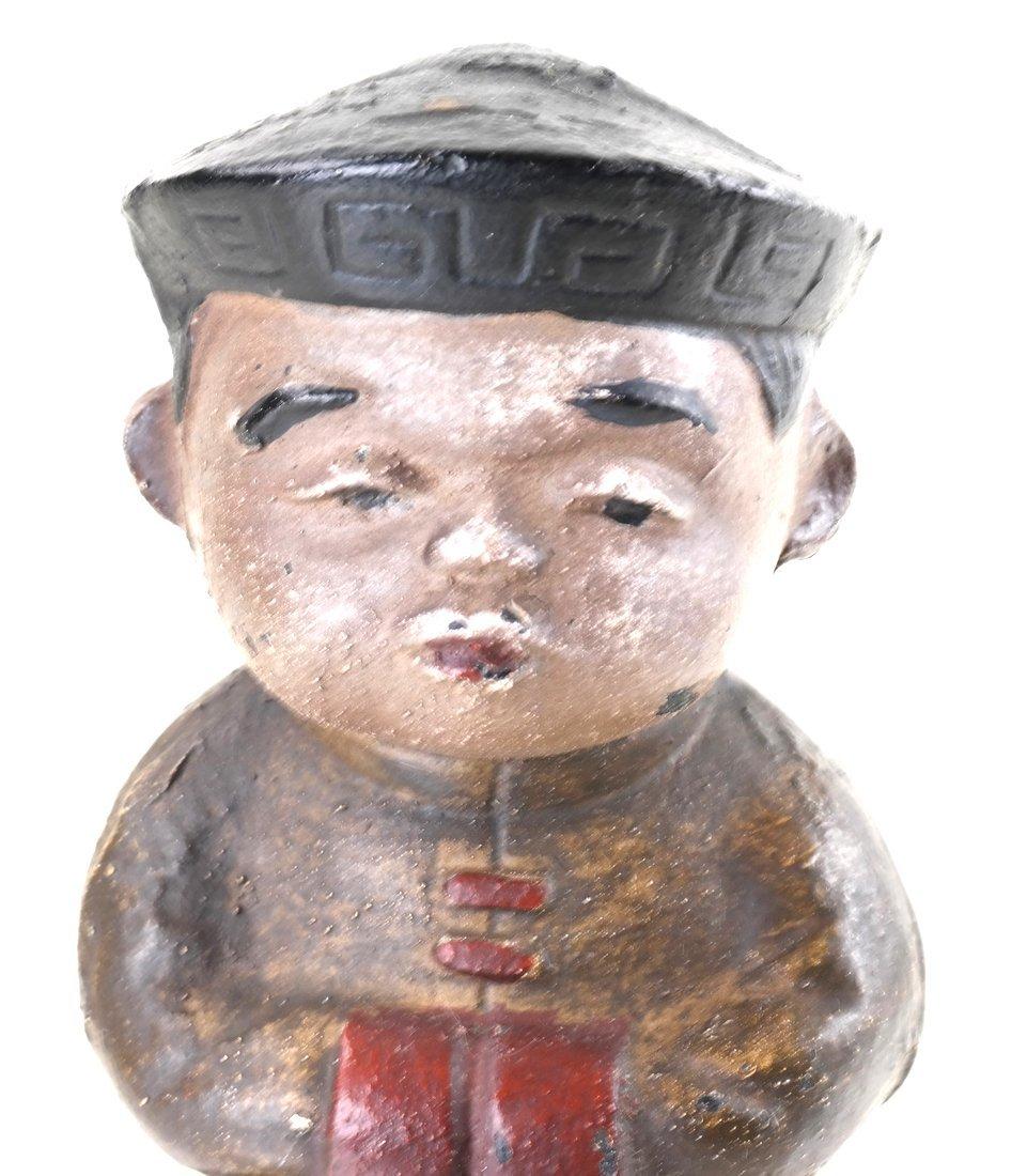 Three Painted Cast Iron Asian Children - 2