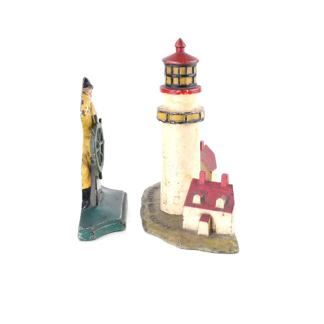 Two Painted Cast Iron Nautical Doorstops - 5