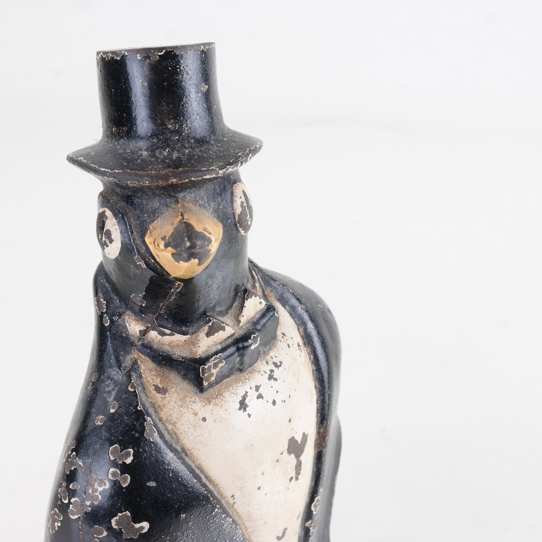 Cast Iron Penguin with Top Hat - 6