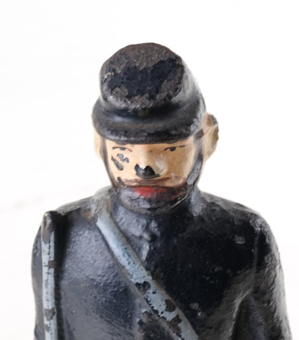 Three Painted Cast Iron Civil War Soldiers Bookend - 6