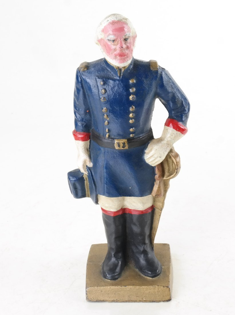 Three Painted Cast Iron Civil War Soldiers Bookend - 7