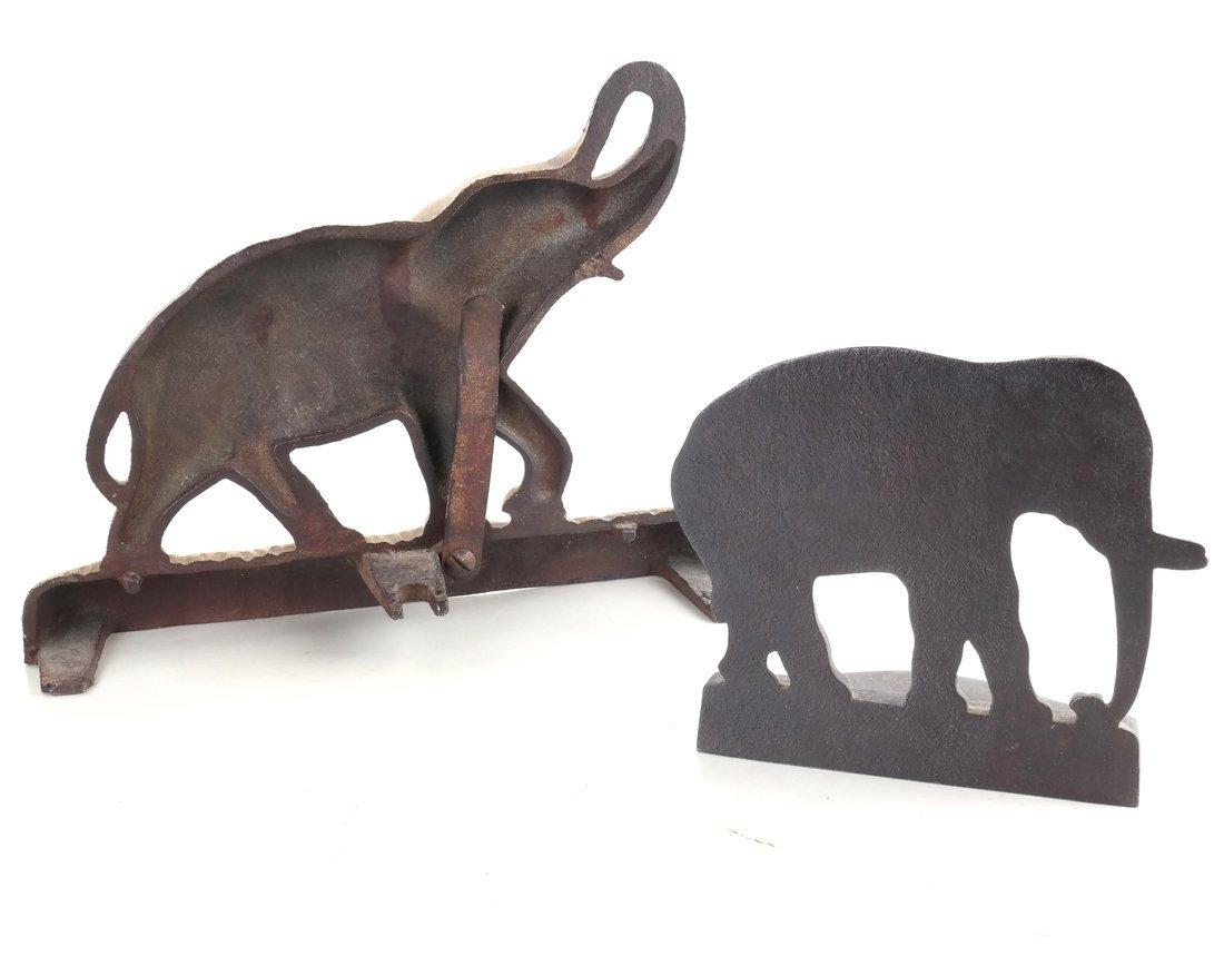 Two Cast Iron Elephants - 2