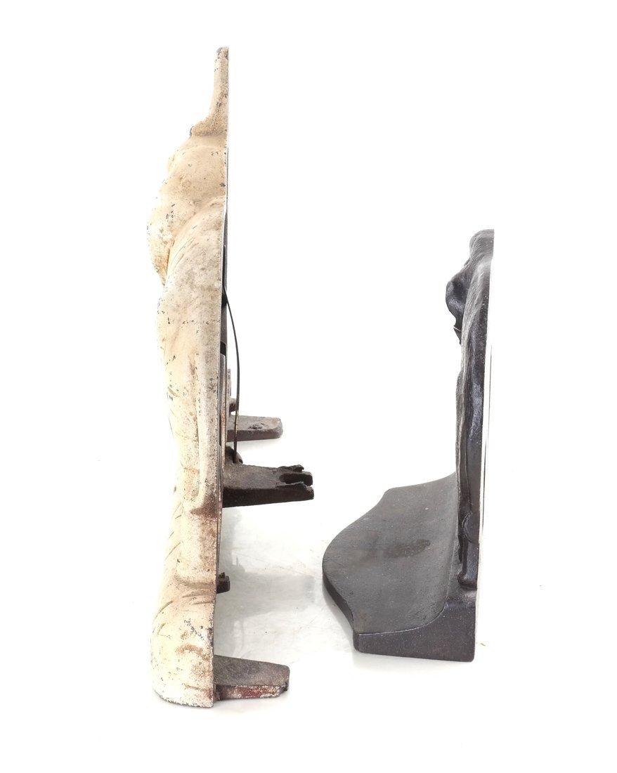 Two Cast Iron Elephants - 3