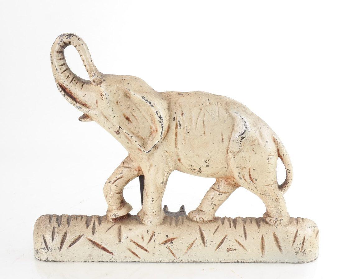 Two Cast Iron Elephants - 5