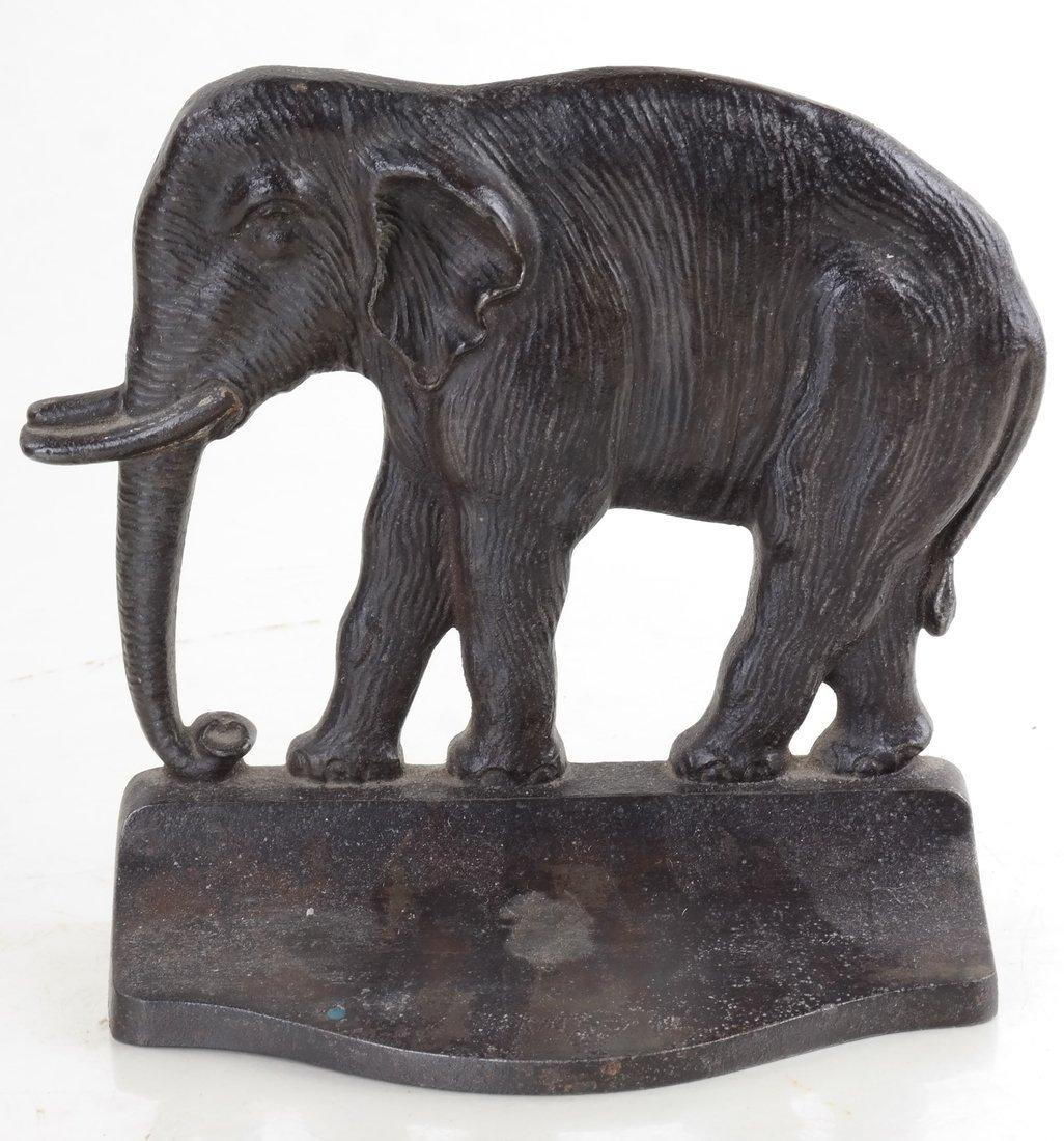 Two Cast Iron Elephants - 8