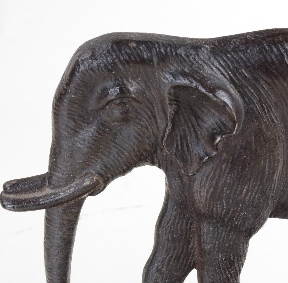 Two Cast Iron Elephants - 9