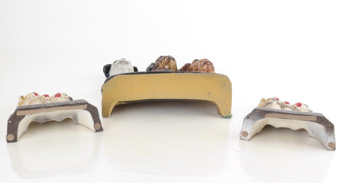 Three Cast Iron Pup Groups - 5