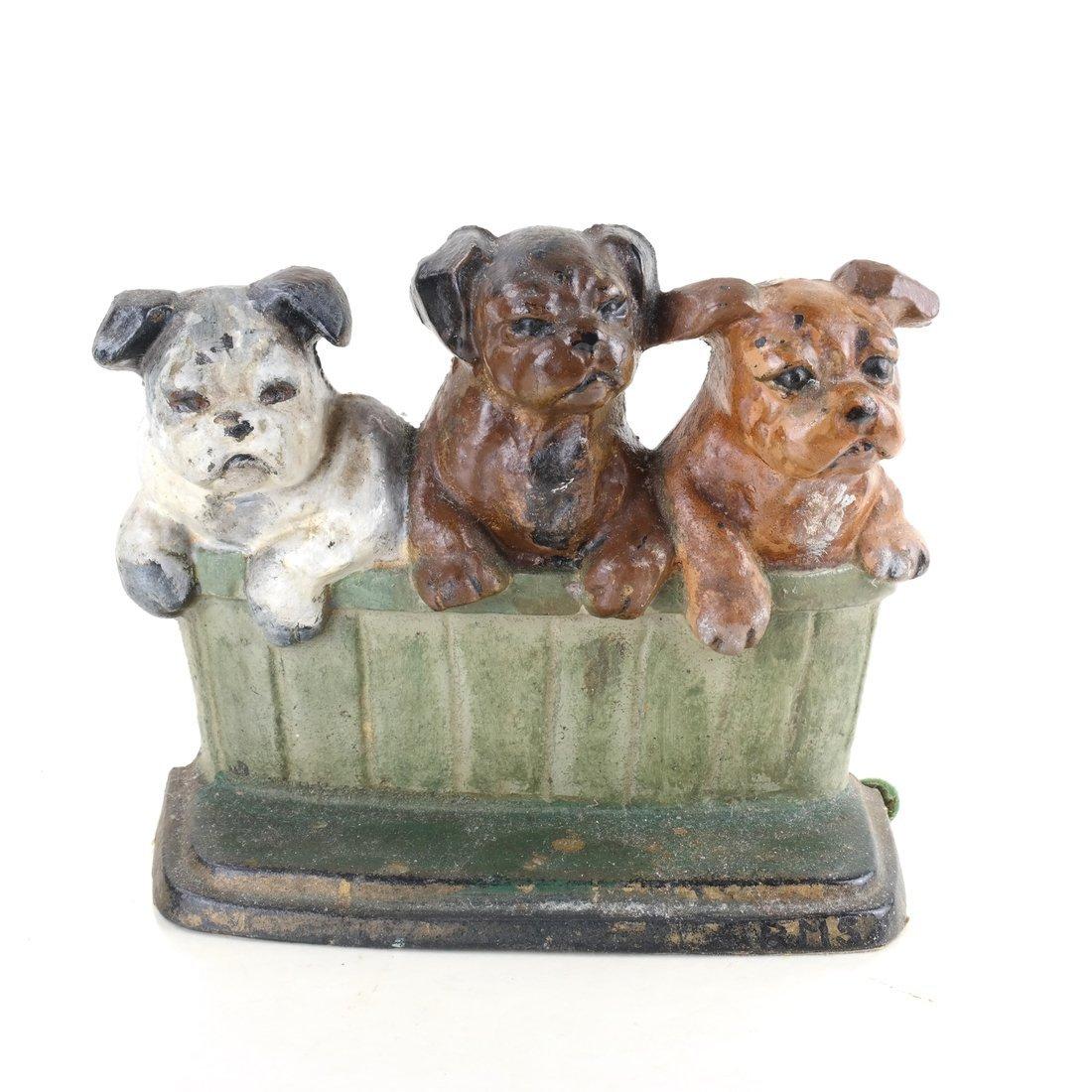 Three Cast Iron Pup Groups - 6