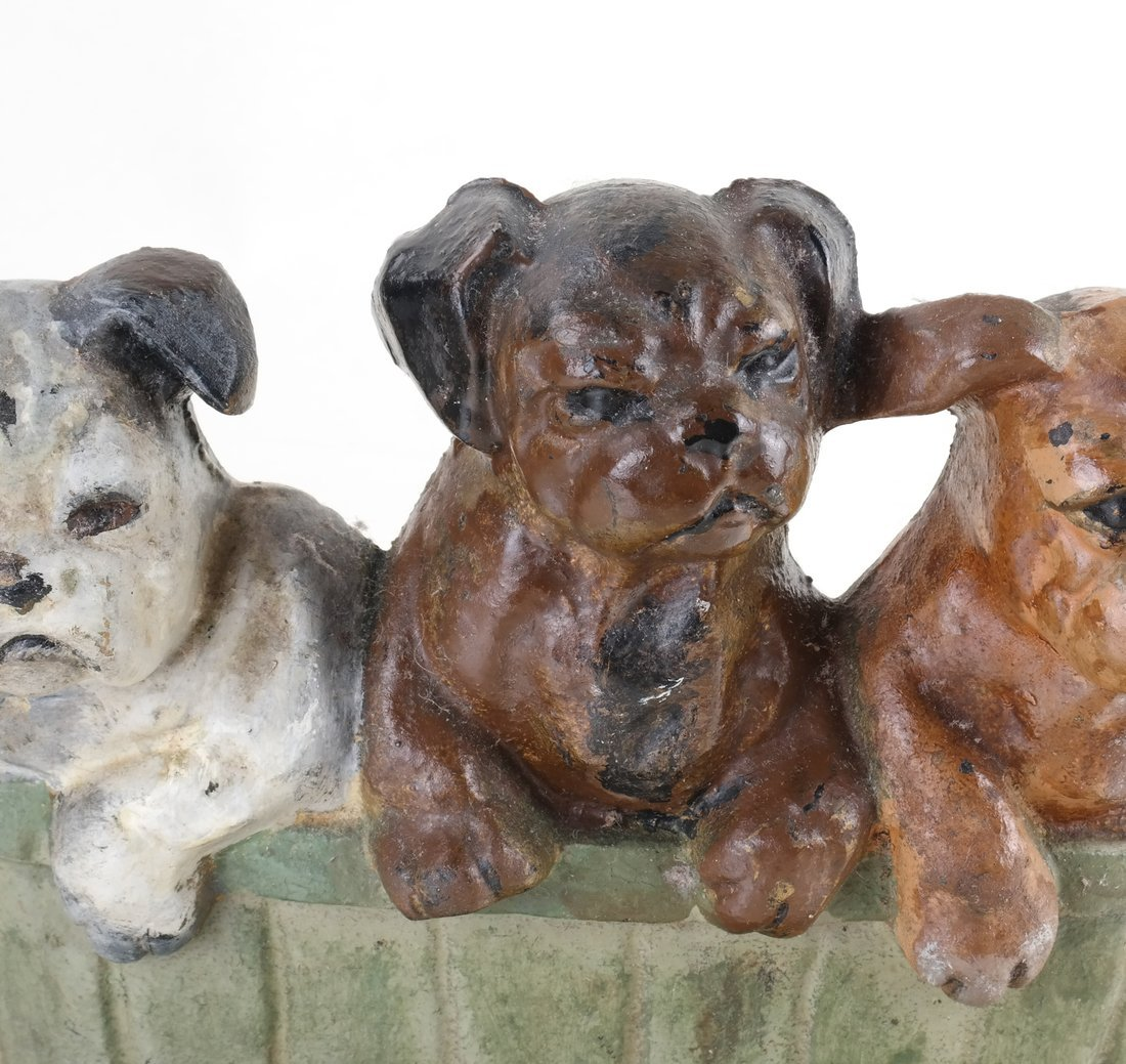 Three Cast Iron Pup Groups - 7