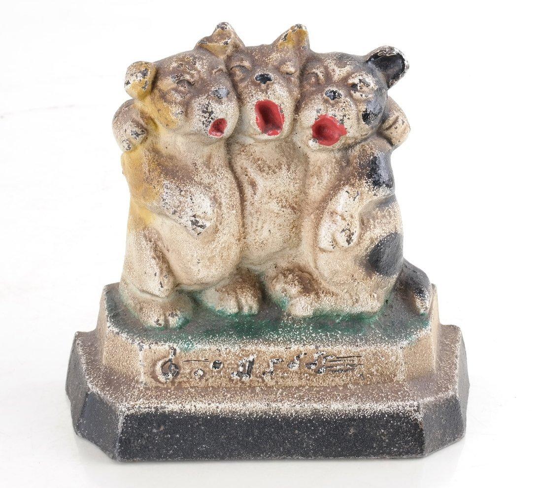 Three Cast Iron Pup Groups - 8