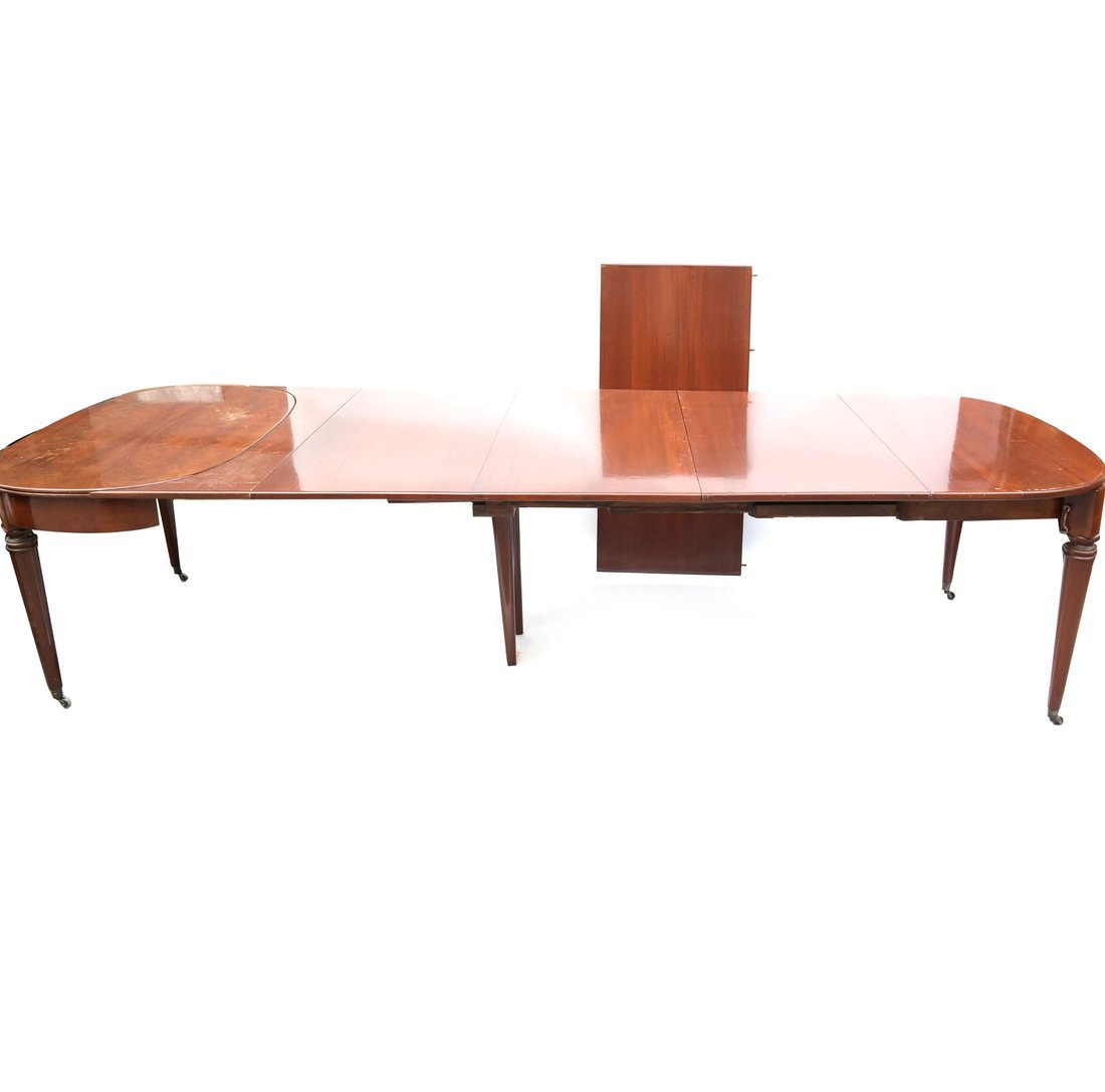 French Mahogany Extension Dining Table - 2