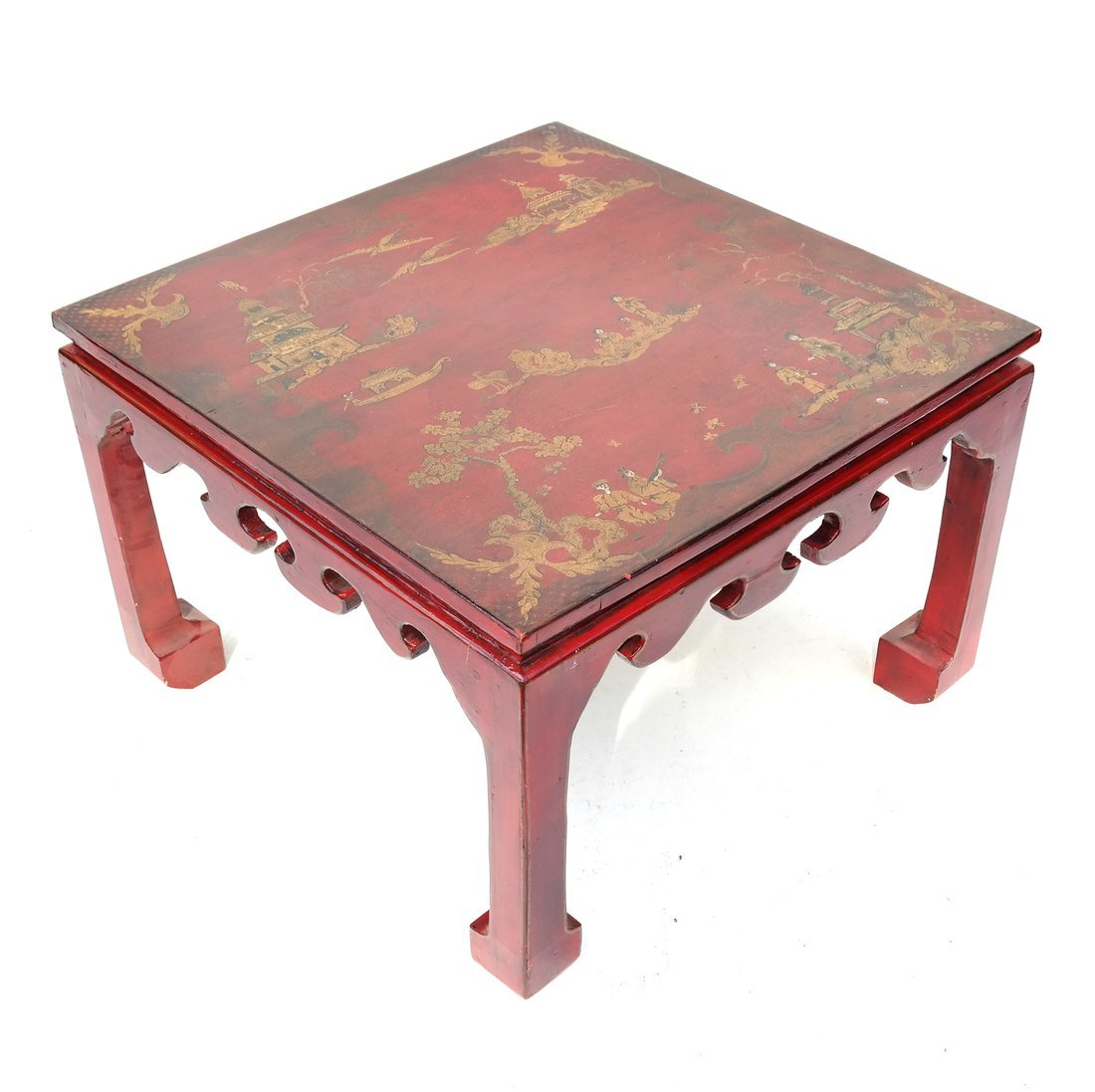 Chinoiserie Red Lacquer Low Table