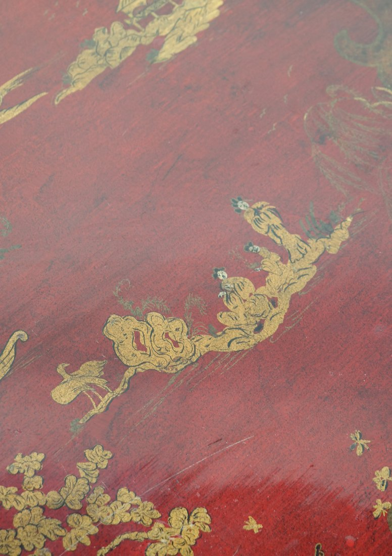 Chinoiserie Red Lacquer Low Table - 4