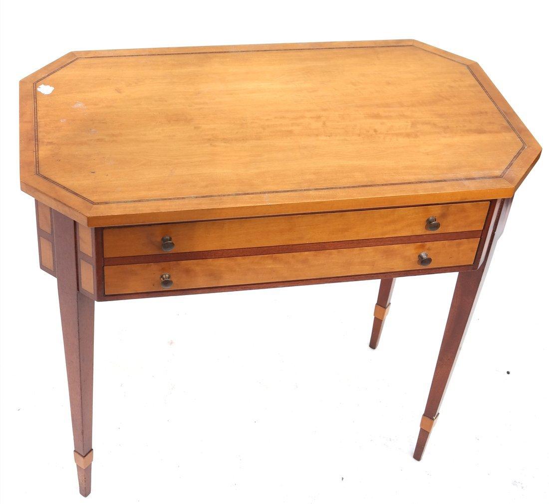 George III Style Satinwood Side Table