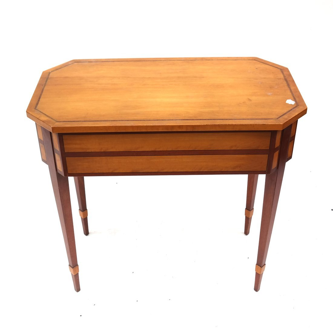 George III Style Satinwood Side Table - 6