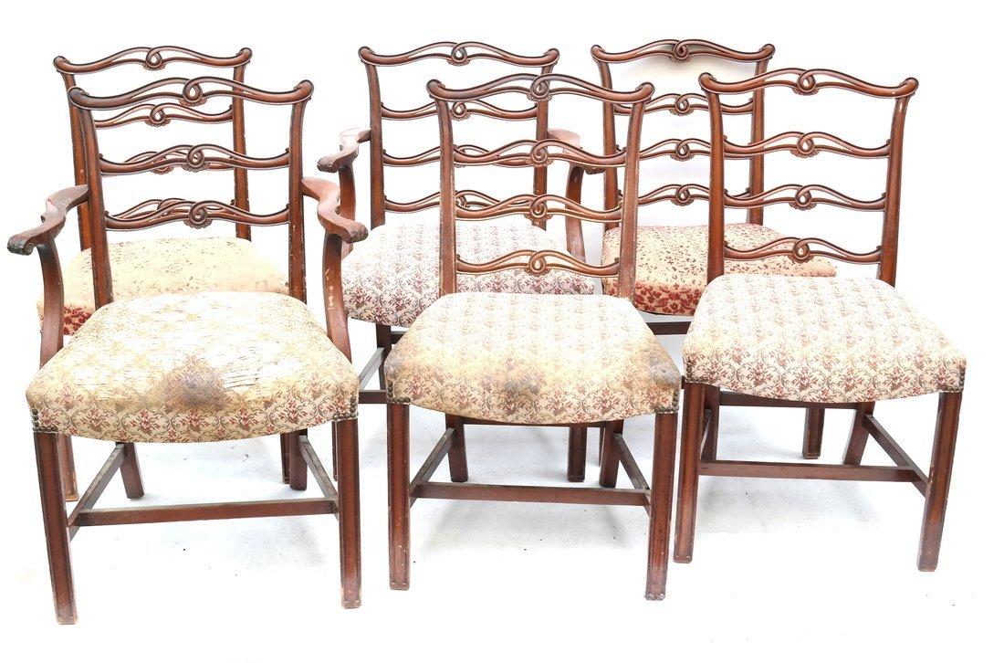 Set of Six Georgian Style Dining Chairs