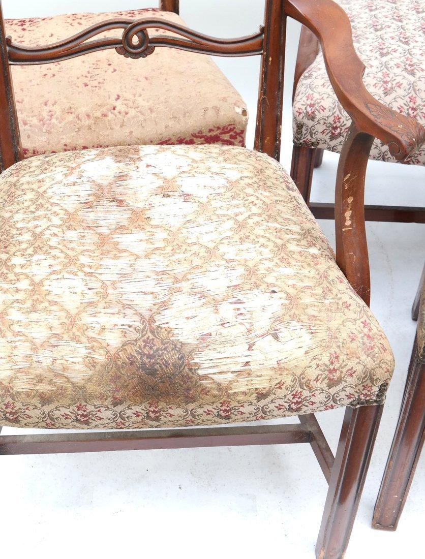 Set of Six Georgian Style Dining Chairs - 2