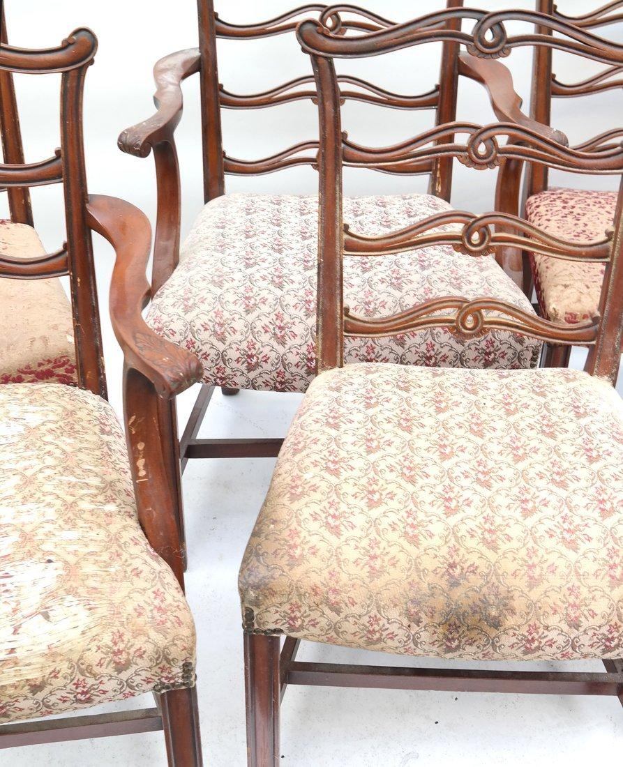 Set of Six Georgian Style Dining Chairs - 3