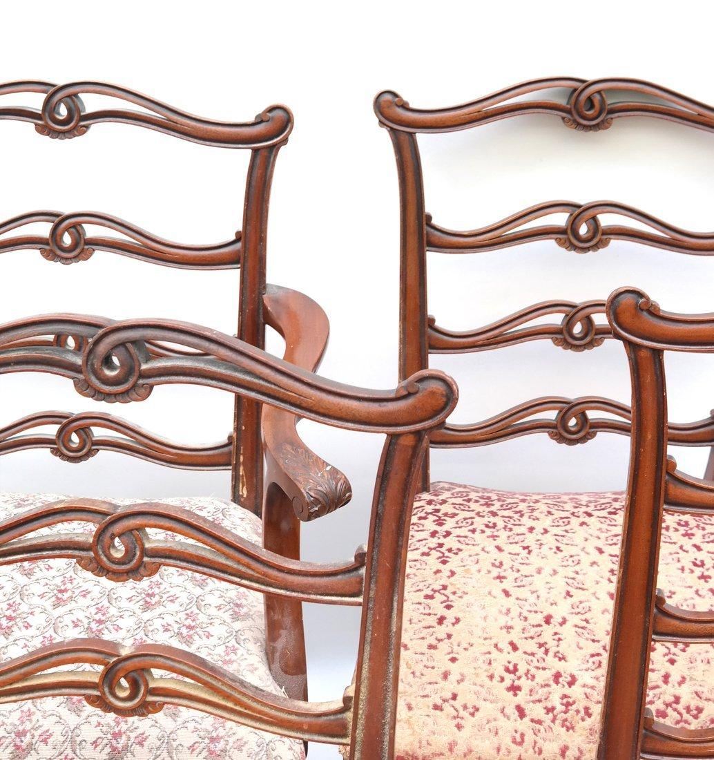 Set of Six Georgian Style Dining Chairs - 4