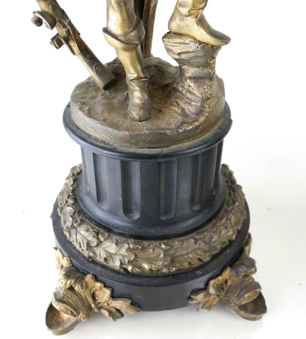 Pair Bronze Figural Six Light Candelabra - 4