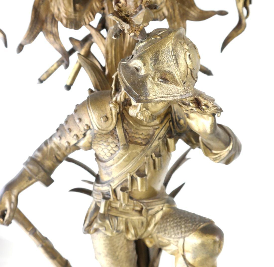 Pair Bronze Figural Six Light Candelabra - 5