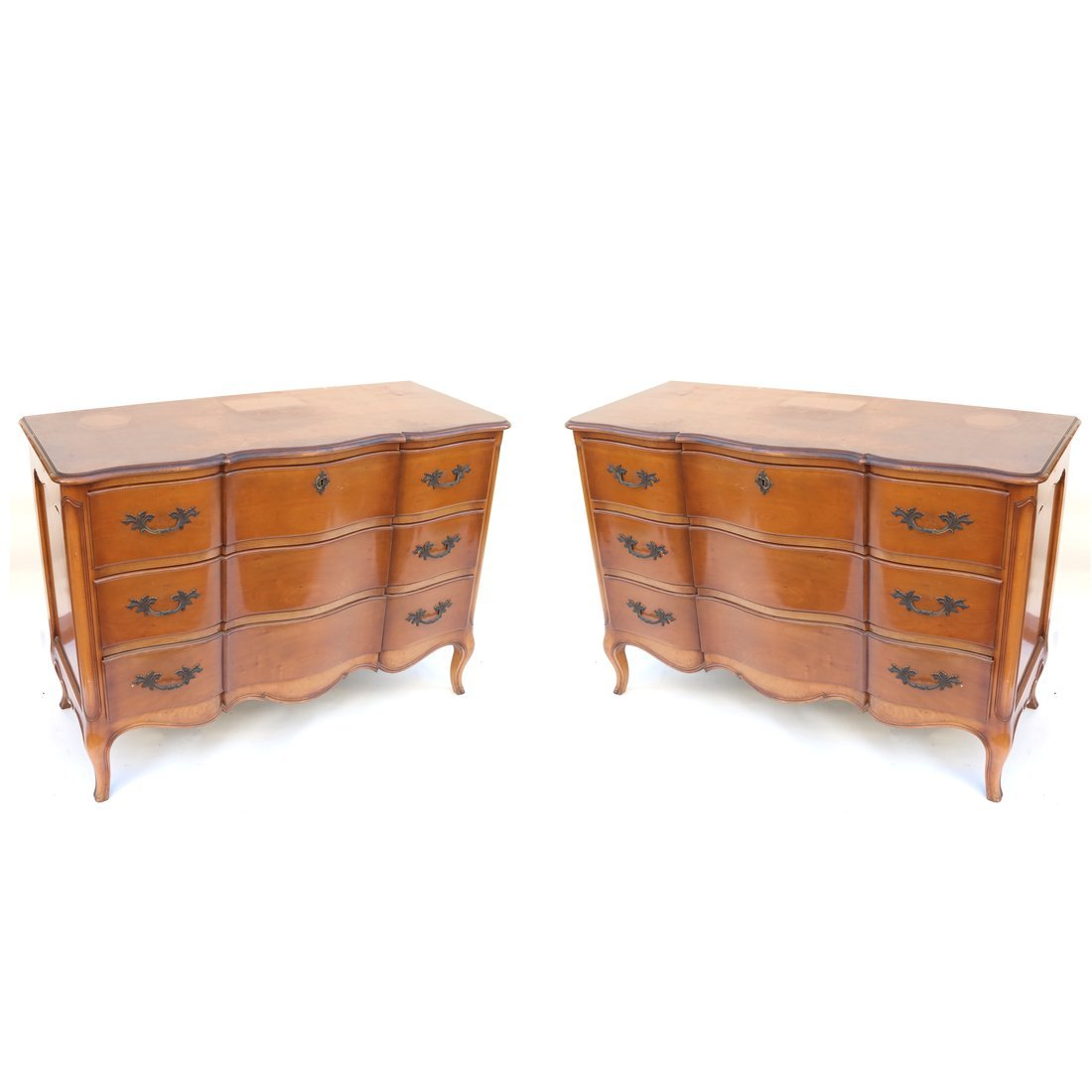 Pair of Louis XV Style Mahogany Chests