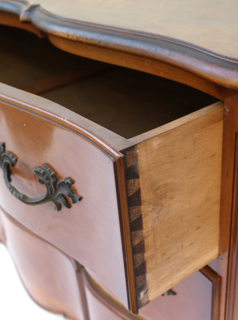 Pair of Louis XV Style Mahogany Chests - 4