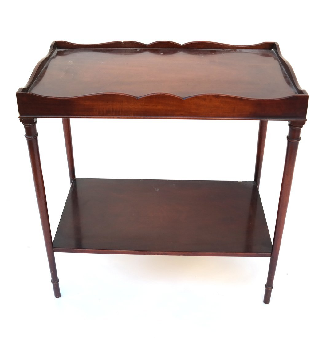 Queen Anne Style Mahogany Side Table - 2