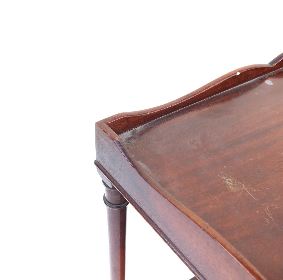 Queen Anne Style Mahogany Side Table - 3