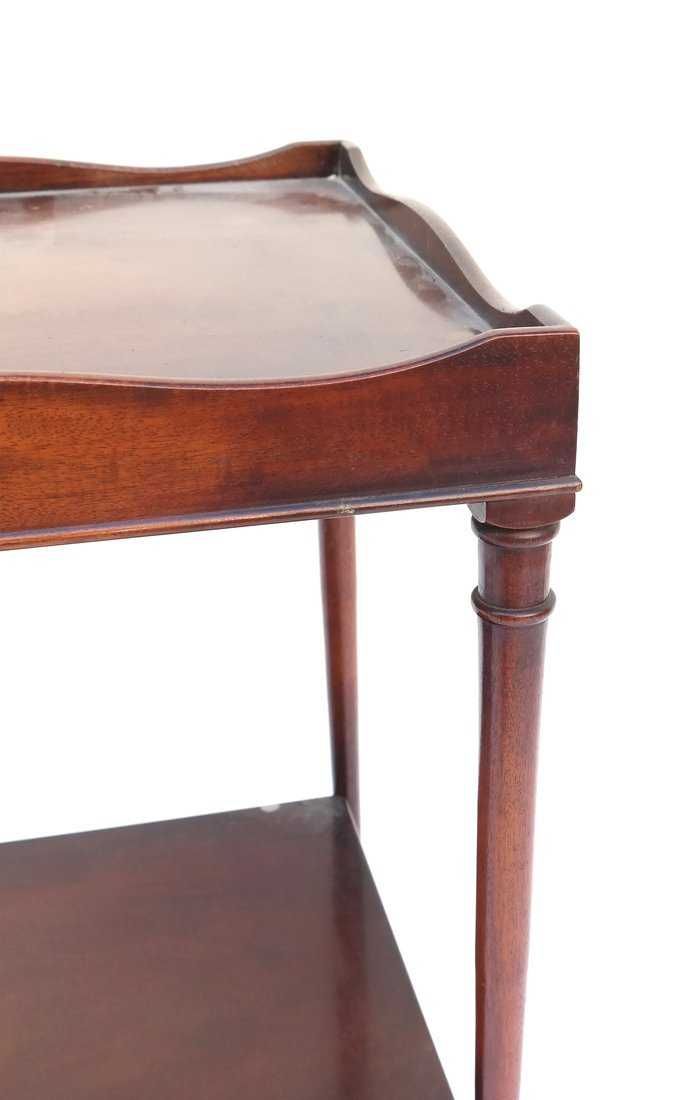 Queen Anne Style Mahogany Side Table - 5