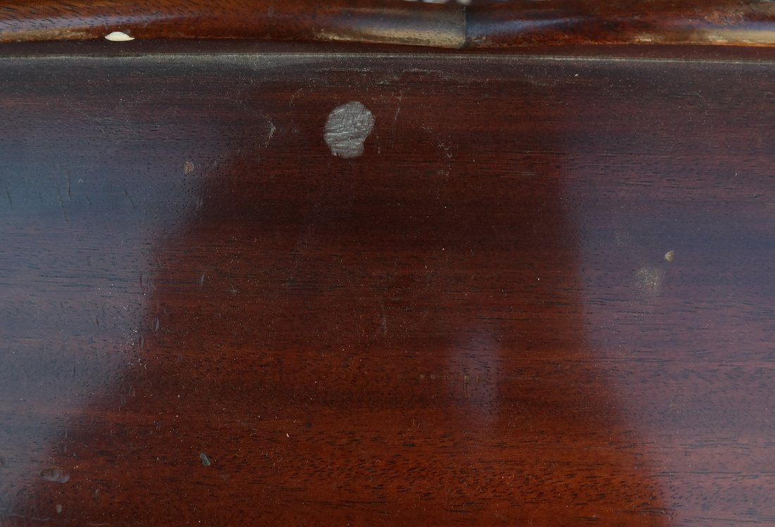 Queen Anne Style Mahogany Side Table - 7