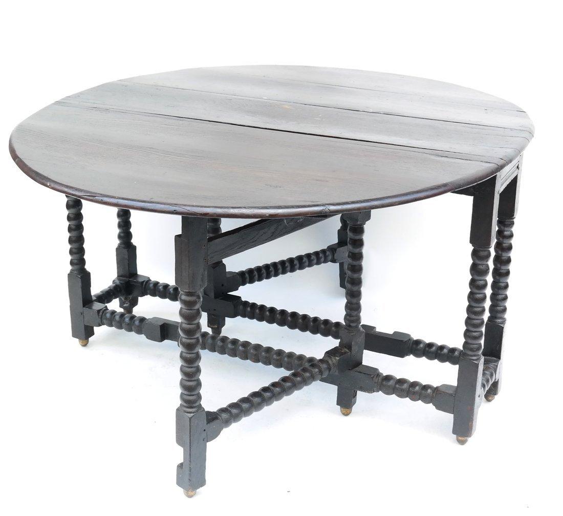William & Mary-Style Gateleg Table
