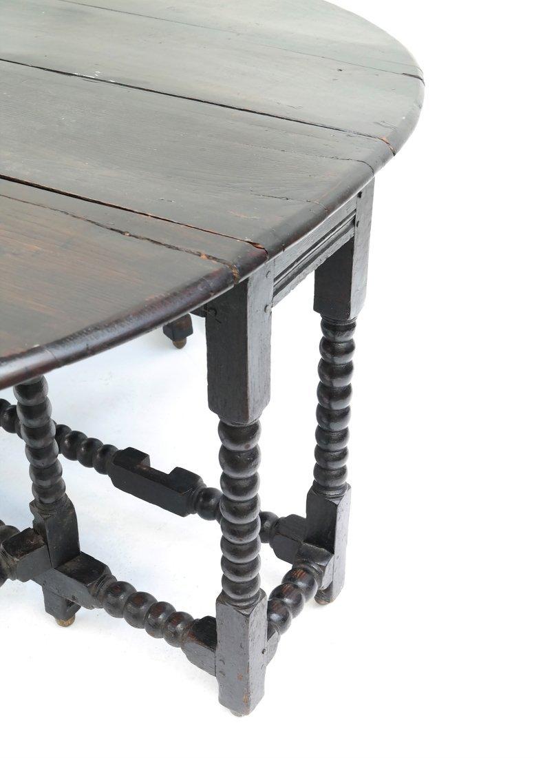 William & Mary-Style Gateleg Table - 4