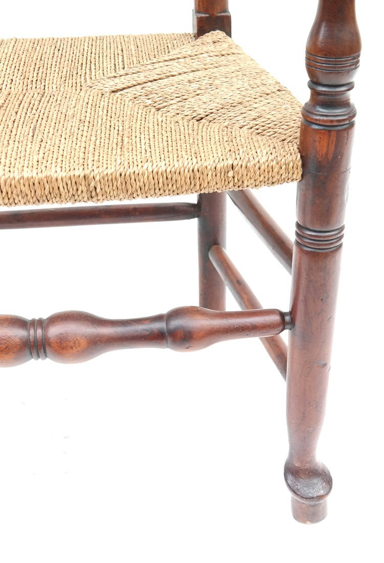 Antique American Ladder Back Armchair - 7