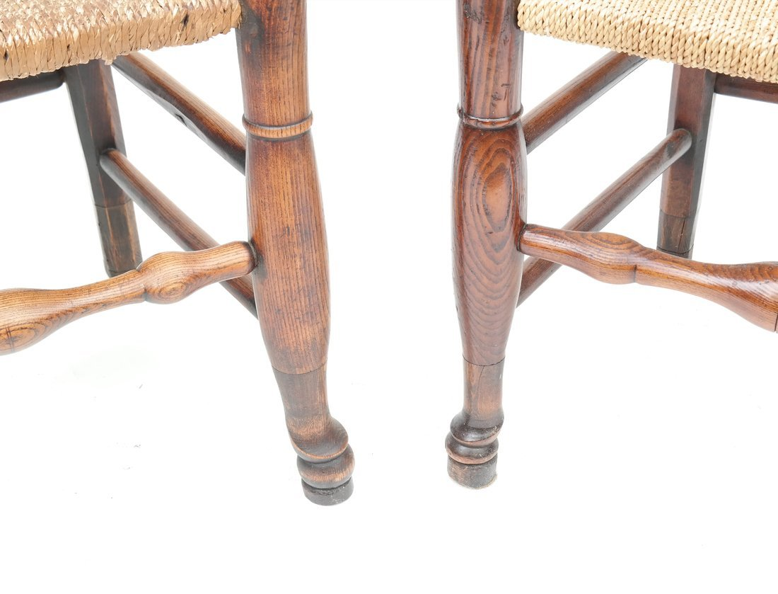 Pair of Oak Ladder Back Chairs - 3