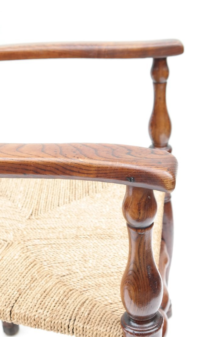 Pair of Oak Ladder Back Chairs - 5