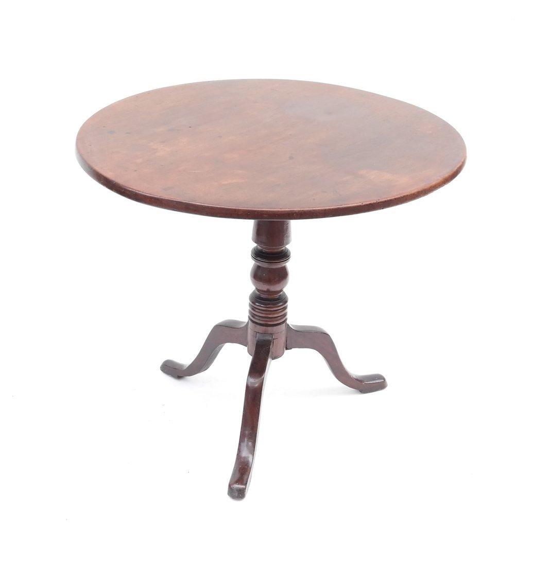 19th C. Queen Anne-Style Tilt-Top Table - 3