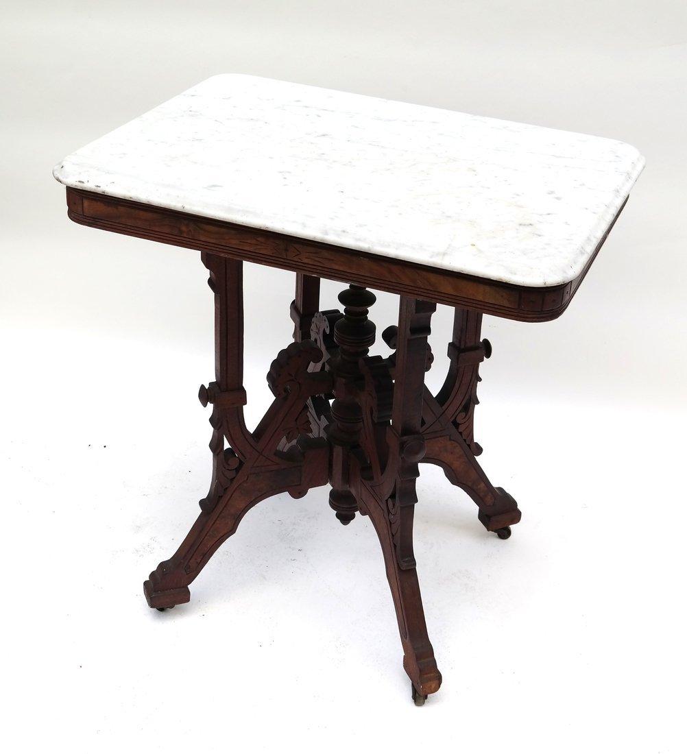 Eastlake Victorian Marble Top Table