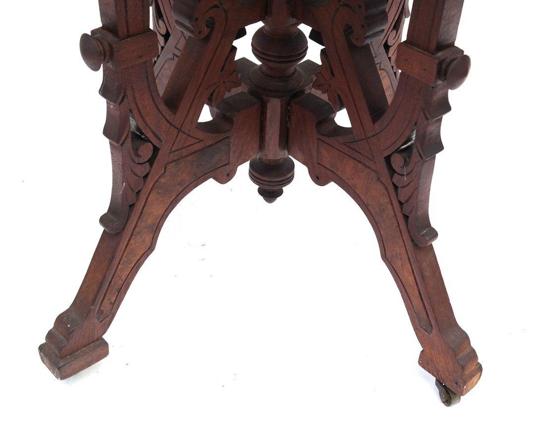 Eastlake Victorian Marble Top Table - 3