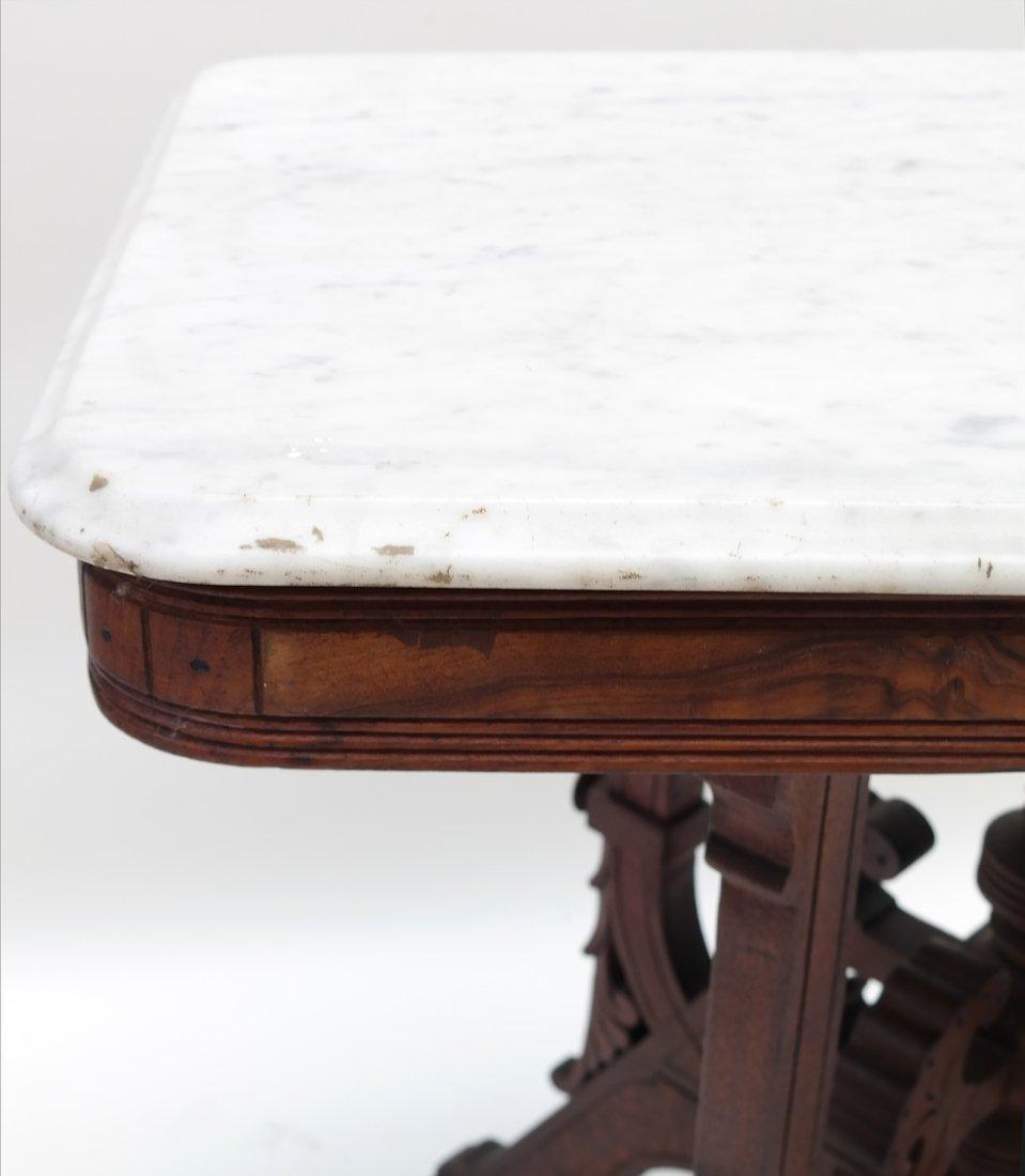 Eastlake Victorian Marble Top Table - 4