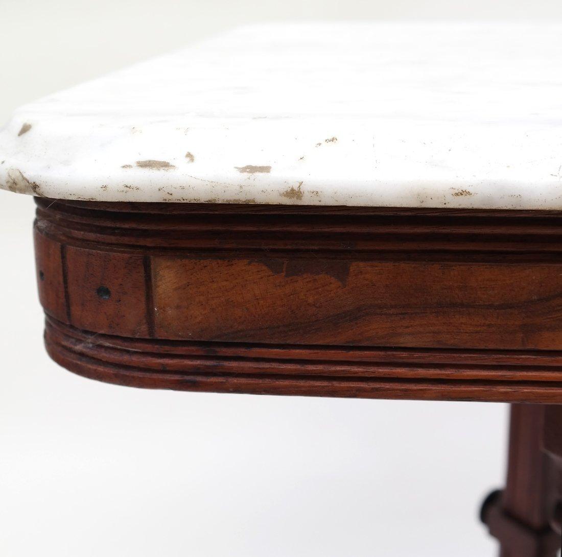 Eastlake Victorian Marble Top Table - 7