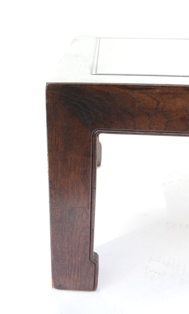 Chinese Style Burlwood and Oak Low Table - 3